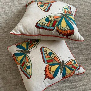 Summer Butterfly Throw Pillows